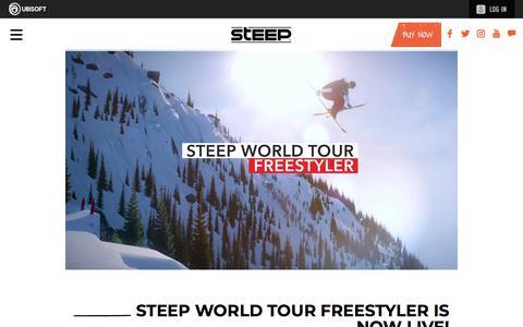 Screenshot of Press Page ubisoft.com - Steep World Tour Freestyler is now live! | Steep Game News & Updates | Ubisoft (US) - captured Nov. 8, 2019