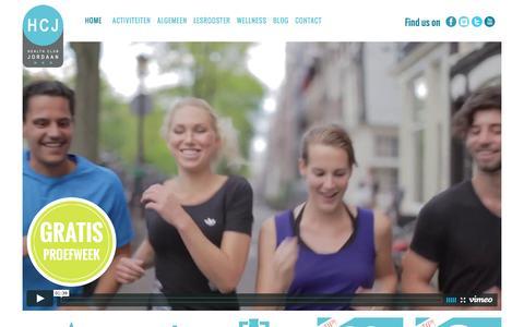 Screenshot of Home Page healthclubjordaan.nl - Meest complete sportschool voor Amsterdam West en Centrum - captured Dec. 8, 2015