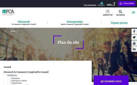 Screenshot of Site Map Page commerce-associe.fr - Plan du site | Commerce associe - captured Oct. 21, 2018