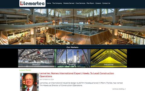 Screenshot of Press Page lemartec.com - Media - Lemartec - captured Sept. 30, 2014