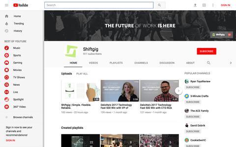 Shiftgig - YouTube - YouTube