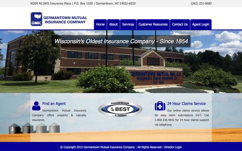 Screenshot of Home Page gmic.com - Germantown Mutual Insurance Company | Just another WordPress site - captured Jan. 27, 2016