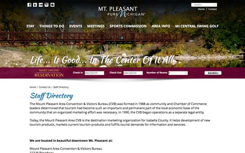 Screenshot of About Page mountpleasantwow.com - Staff Directory - Mount Pleasant Wow - captured Feb. 14, 2016