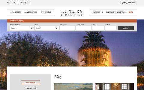 Screenshot of Blog luxurysimplifiedgroup.com - Blog - Luxury Simplified - captured Sept. 30, 2014