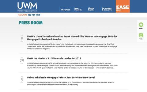 United Wholesale Mortgage Press Room