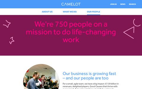 Screenshot of Team Page camelotgroup.co.uk - Our people - Camelot Group - captured Aug. 30, 2016