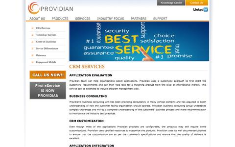 Screenshot of Services Page providianglobal.com - ::  PROVIDIAN - Sage CRM | SalesLogix | Act By Sage | Mobile CRM | Cloud CRM | Social CRM | CRM Success   :: - captured Sept. 30, 2014