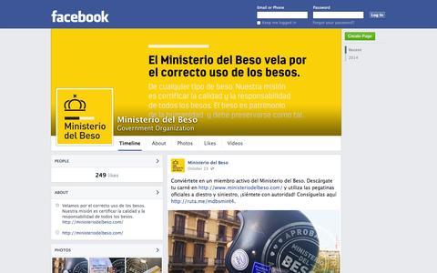 Screenshot of Facebook Page facebook.com - Ministerio del Beso | Facebook - captured Oct. 26, 2014