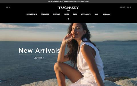 Screenshot of Login Page tuchuzy.com - Womens Designer Fashion | Clothes, Shoes & Bags Online | Tuchuzy - captured Oct. 20, 2015