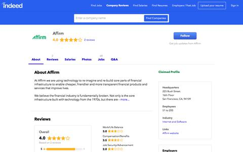 Affirm Careers and Employment | Indeed.com