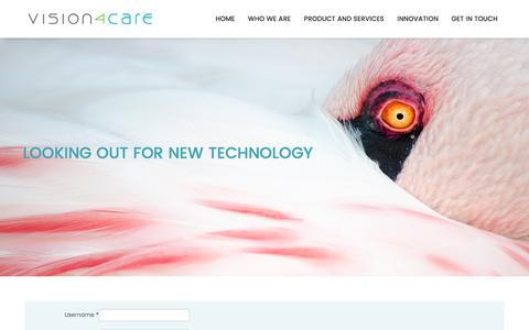 Screenshot of Login Page vision4care.com - Login - captured Nov. 15, 2017