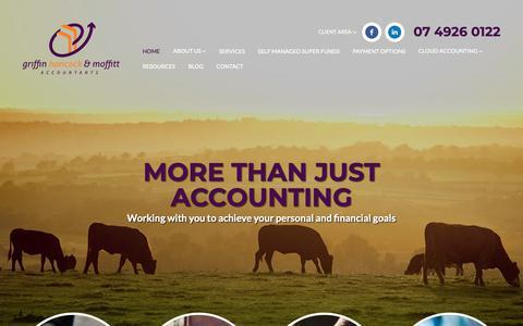 Screenshot of Home Page ghm.com.au - Griffin Hancock & Moffitt - Accountants Rockhampton, Queensland - captured Sept. 30, 2018