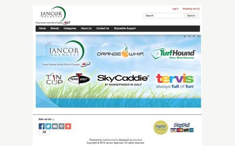 Screenshot of Home Page jancor.ca - Jancor Agencies - captured Oct. 6, 2014
