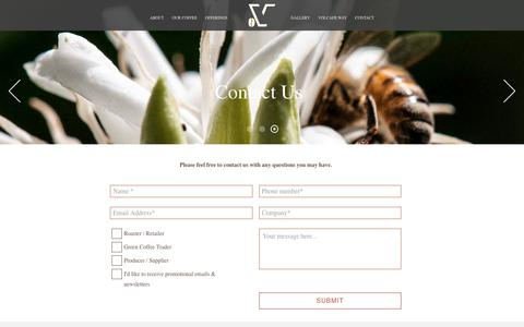 Screenshot of Contact Page volcafespecialty.com - Contact Us - Volcafe Specialty - captured Oct. 13, 2019