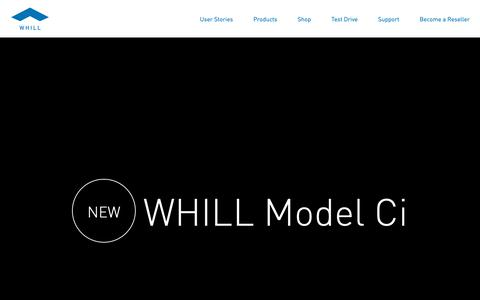 Screenshot of Home Page whill.us - WHILL   Intelligent Personal EVs - The Future of Power Wheelchairs - captured Oct. 21, 2018