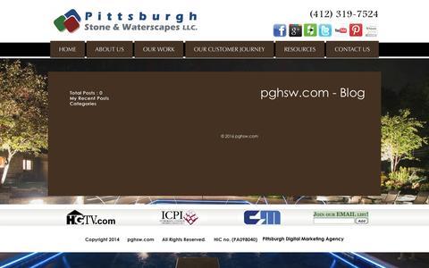 Screenshot of Blog pghsw.com - Pittsburgh Landscape Companies - pghsw.com - captured Jan. 28, 2016