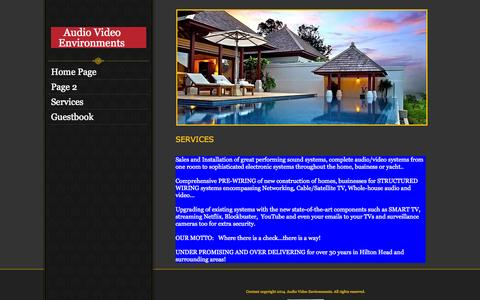 Screenshot of Services Page hifiguy.biz - Services - captured Oct. 3, 2014