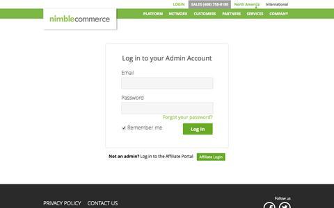 Screenshot of Login Page nimblecommerce.com - NimbleCommerce - Group Buying and Local Commerce Platform - captured Oct. 26, 2014