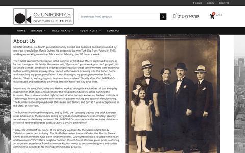 Screenshot of About Page okuniform.com - OK Uniform-US-NY - captured Oct. 18, 2018