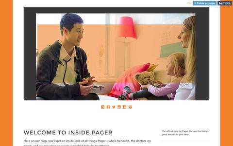 Screenshot of Blog getpager.com captured Oct. 1, 2014