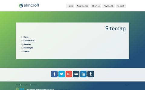 Screenshot of Site Map Page jimdo.com - Sitemap - elmcroftconstruction - captured May 17, 2017