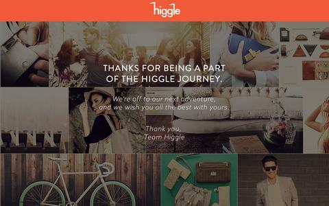 Screenshot of Home Page higgle.com - Higgle - Prices decided by you. - captured July 3, 2016