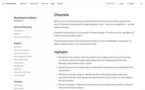 Channels | Brandwatch
