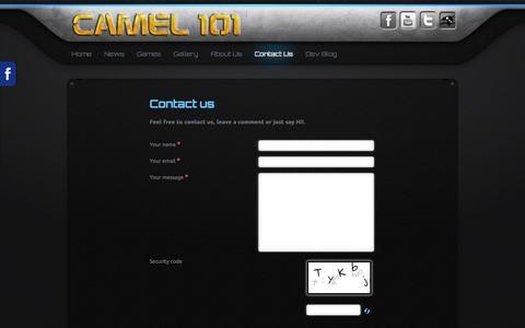 Screenshot of Contact Page camel101.com - Contact Us - captured Sept. 29, 2014