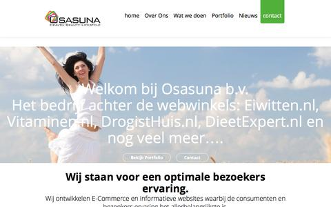 Screenshot of Home Page osasuna.nl - Osasuna b.v. - captured Oct. 7, 2014