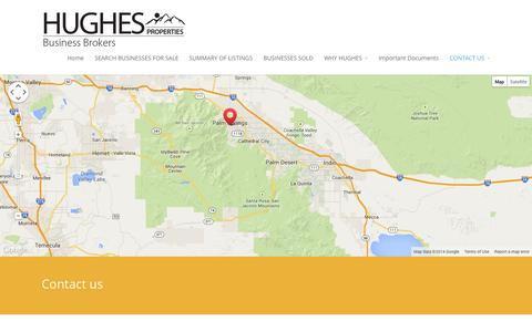 Screenshot of Contact Page hughesproperties.com - CONTACT US - Hughes Properties - captured Nov. 2, 2014
