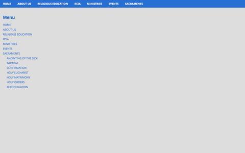 Screenshot of Menu Page respar.net - Menu | Resurrection Catholic Parish - captured June 14, 2016