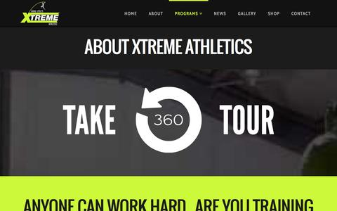Screenshot of About Page xtremeathleticskc.com - About - Xtreme Athletics - captured Oct. 9, 2014