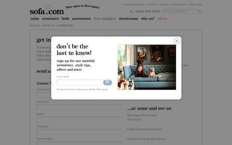Screenshot of Contact Page sofa.com - Sofa.com | contact us - captured Nov. 30, 2016