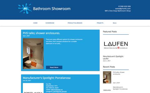 Screenshot of Blog phsmk.com - PHS Bathroom Showroom Blog - captured July 12, 2017