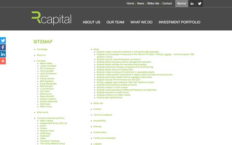 Screenshot of Site Map Page rcapital.co.uk - Rcapital sitemap - captured June 12, 2017