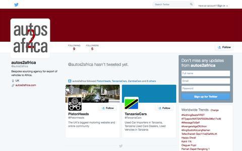 Screenshot of Twitter Page twitter.com - autos2africa (@autos2africa) | Twitter - captured Oct. 23, 2014