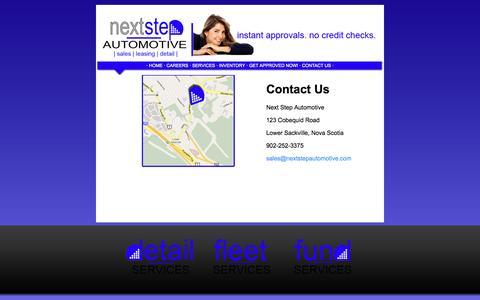 Screenshot of Contact Page nextstepautomotive.com - Next Step Automotive - captured Oct. 9, 2014