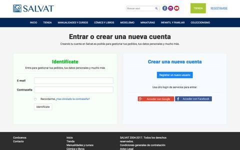 Screenshot of Login Page salvat.com - Editorial Salvat - captured May 5, 2017