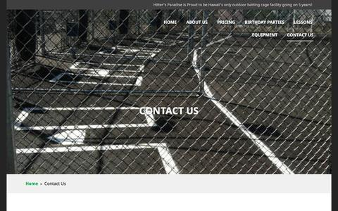 Screenshot of Contact Page hittersparadise.com - Contact Us | Hitter's Paradise - captured May 20, 2017