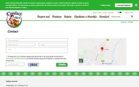 Screenshot of Contact Page covalact.ro - Contact - Covalact de Țară - captured Dec. 7, 2018