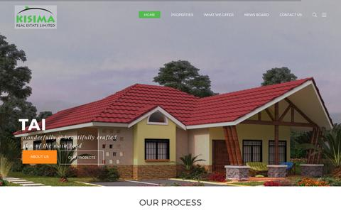 Screenshot of Home Page kisimarealestate.com - Kisima Real Estate Ltd – Kisima Real Estate Ltd - captured Oct. 17, 2017
