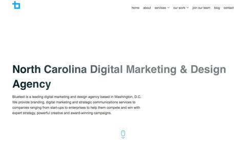 North Carolina Digital Marketing & Design Agency | Bluetext