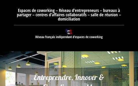 Screenshot of Home Page start-way.com - Coworking bureaux partagés centre d'affaires Domiciliation - captured June 19, 2017