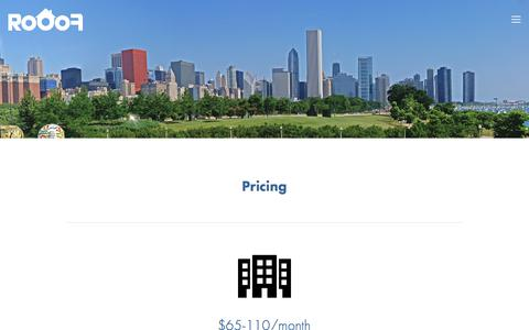 Screenshot of Pricing Page rooof.com - Pricing — Rooof - captured Aug. 3, 2017