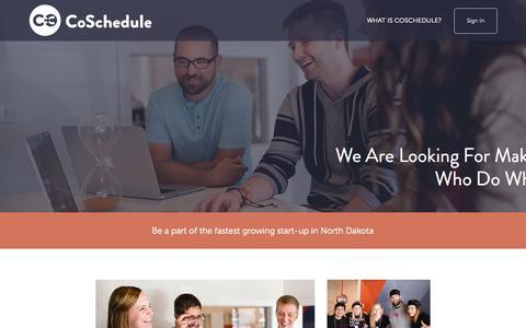 Screenshot of Jobs Page coschedule.com - Jobs - captured Nov. 23, 2015