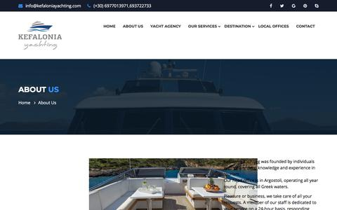 Screenshot of About Page kefaloniayachting.com - About Us | Sailing and Yacht services - captured Sept. 20, 2018