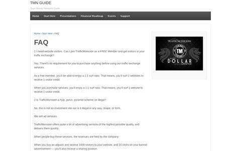 Screenshot of FAQ Page mglobaltek.com - FAQ   TMN GUIDE - captured Nov. 29, 2016
