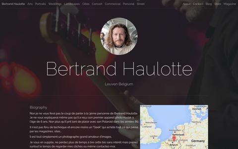Screenshot of About Page 500px.com - Bertrand Haulotte - captured June 3, 2016