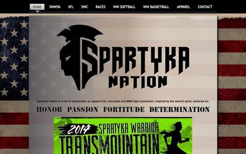 Screenshot of Home Page spartyka.com - Spartyka Nation   5K Races, Adventure Runs, Half Marathons   Wounded Warrior 5K's - captured Oct. 7, 2014