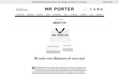 About Us|MR PORTER